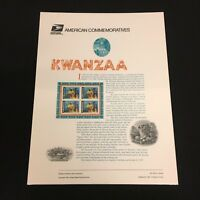 Kwanzaa USPS American Commemorative Panels Stamps Mint Sealed OGP AC087