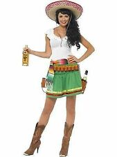 Ladies Small Mexican Tequila Shooter Shot Girl Fancy Dress Costume 8 to 10