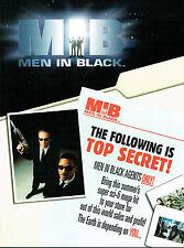 MEN IN BLACK TRADING CARDS SELL SHEET