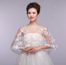 new wedding Shawl Wrap Cape Shrug Bolero embroidery Jacket bride Stole pelerine