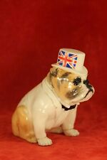 "1994 Royal Doulton 4½"" Fawn British Bulldog w Top Hat DA 228 - Ltd Ed 1000"