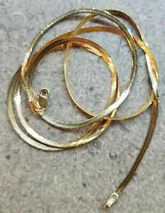 """VINTAGE 18K YELLOW GOLD CHAIN, 26"""" AND 4.1 g,"""