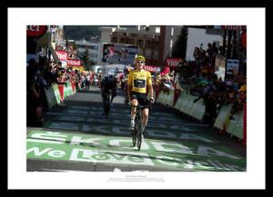 Geraint Thomas 2018 Tour de France Alpe d'Huez Victory Photo Memorabilia (2LQ)