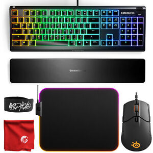 SteelSeries Apex 3 Wired Gaming Keyboard w/ RGB 64795 & Sensei 310 Gaming Mouse