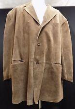 J. Ferrar Men Coat 100% Leather Suede Tan Beige 4XLT