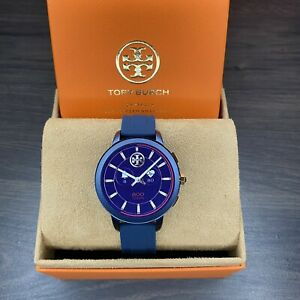 TORY BURCH TBT1002 NAVY BLUE SILICONE 42mm STRAP WOMENS TOUCHSCREEN SMARTWATCH