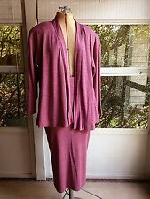 Vintage Cathy Hardwick Skirt Suit - Size Medium - Plum