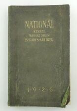 e9770 Sehr seltenes Buch National Kessel Radiatoren und Bedarfsartikel von 1926