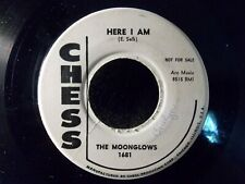 """Here I Am/Too Late by The Moonglows (Chess 1681) 7"""" PROMO 45 VG"""