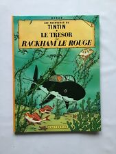 TINTIN LE TRESOR DE RACKHAM LE ROUGE / BD B41 1974  / HERGE / CASTERMAN