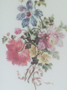ROSE SELAVY PRINTS PAIR FLORAL WITH FOLIAGE DOUBLE MATTED