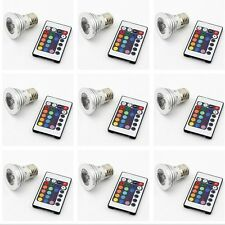 10pcs E27 3W RGB Multicolor LED 16 Color Changing Light Bulb + IR Remote Control