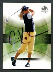 Carin Koch #9 signed autograph auto 2004 SP Upper Deck LPGA Golf Card