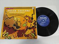 """FELIX LECLERC CHANTE POUR LES ENFANTS LP 10"""" VINYL VINILO 1964 VG/VG FRANCE ED"""