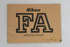 Original Nikon Fa Instruction Book Manual