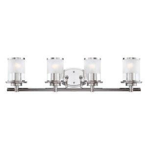Designers Fountain Essence 4 Light Bath Bar, Chrome - 6694-CH