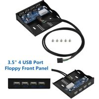 """Floppy Bay Front Panel 4 Port USB 2.0 HUB Expansion Adapter Connector 3.5"""" 9pin"""