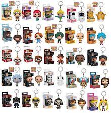 New Keyring Chucky/Bob Ross/Ariel/Goku/Naruto Figure Funko POP Pocket Keychain