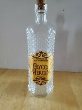 GLYCO HEROIN FOR COUGH Clear Corked Bottle DECORATIVE