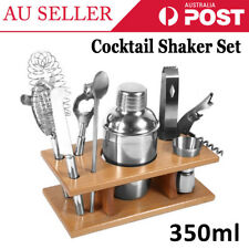 8PCS Cocktail Shaker Set Drinks Strainer Bottle Martini Spirits Maker Mixer Bar