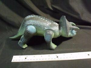 Vintage 1987 Tyco Toys Dino Riders Torosaurus Dinosaur Grey Green triceratops