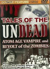 DOUBLE FEATURE DVD - REVOLT OF THE ZOMBIES - ATOM AGE VAMPIRE + CASPER CARTOON
