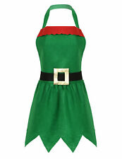 Womens Elf Apron Apron Costume Kitchen Chef Baking Apron Christmas Party Favors