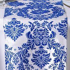 Royal Blue & White Damask Table Runner