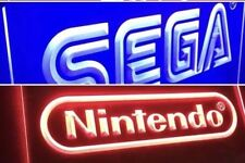 SEGA & NINTENDO 2 ARCADE VIDEO GAME LED NEON LIGHT SIGNS ManCave, Game Room NEW!
