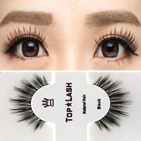 Black 100% Real Mink Natural Long Thick Eye Lashes False Eyelashes Top Lashes