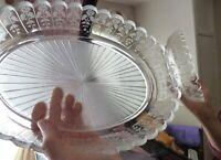 Antique Victorian Centrepiece Bowl Etched Art Nouveau, Not Signed
