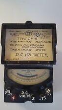 VINTAGE GENERAL ELECTRIC DC VOLTMETER TYPE DP-9 MODEL 8DPV-Y215 #05