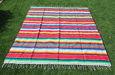 summer Outdoors Large Beach Camping Blanket Picnic Mat Pad mexican sarape red rv
