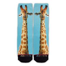 Function - Giraffe Face Fashion Socks gorilla giraffe striped fur odd sox stance