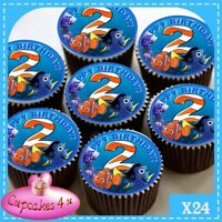 2ND BIRTHDAY FINDING NEMO 24 EDIBLE CUPCAKE TOPPERS PREMIUM   RICE PAPER CC0232