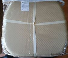 "Set of 4 KITCHEN CHAIR PADS CUSHIONS w/strings, Light BEIGE Dbl sided, 15"" x 15"""