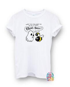 Boo Bees What Did Ghost Funny Bee Halloween T-shirt Vest Top Men Women Unisex