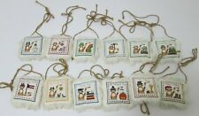 12 Individual Small Complete Cross Stitch Calendar Seasonal Holiday Cat Folk Art