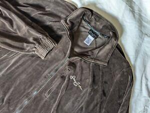 1990s Vintage Sean John Brown zip Track Jacket Men XL Velour Velvet Y2K supreme