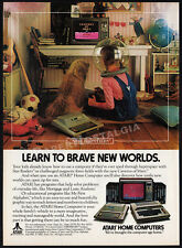 ATARI 400/800 HOME COMPUTERS__Original 1982 Print AD / promo__Caverns of Mars