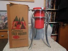 Mid Century Solid, Adjustable Christmas Tree Stand Holder No 14, w/orig box