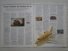 6/1979 PUB CESSNA CITATION III BUSINESS JET AIRCRAFT FLUGZEUG ORIGINAL GERMAN AD