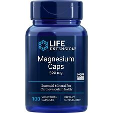 Life Extension Magnesium Caps 500 mg, 100 Vegetarian Capsules each, 3 Pack