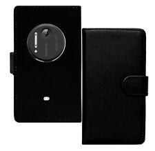 Black Mobile Phone Wallet Case for Nokia