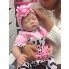 "22""Deluxe Lifelike Reborn Sleeping Baby Doll Silicone Vinyl Newborn Doll GirlToy"