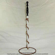 """14 3/8"""" Guidance Hand Turned Almond Wood Magic Wand Witch Wizard Wicca"""