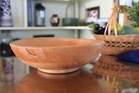 Nevco Vintage Shallow Turned Wood Dough Bowl