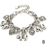 Frauen Elefanten Form Anhänger Perlen Ankle Kette Sommer Strand Fuß Schmuck M1B4