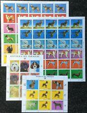 EC 1983 PARAGUAY FAUNA PETS DOGS MICHEL 65 € !!! 2 BIG SH FOLDED IN 2+2KB MNH