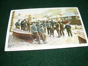 VINTAGE POSTCARD PORT ISAAC CORNWALL FISHERMEN HOUSES BOATS TRADITIONAL CLOTHES